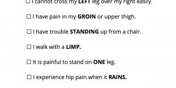 Healthy Hips Checklist